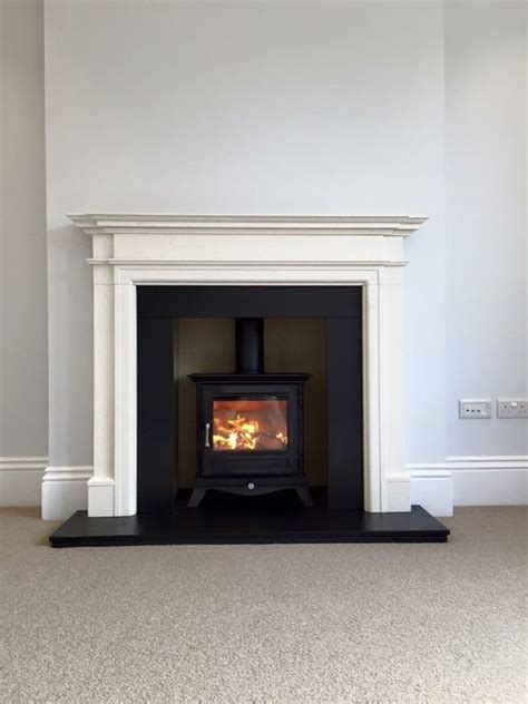 Fireplace Surrounds For Wood Burning Stoves by Chesneys Beaumont 5kw Wood Burning Stove With Limestone