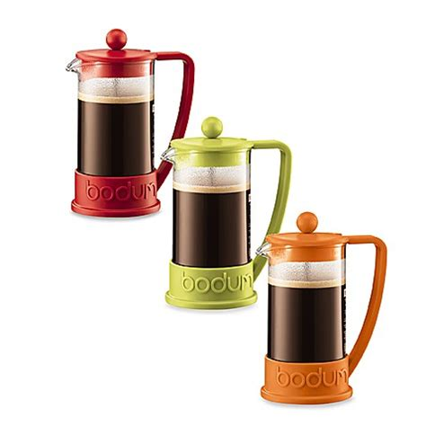 bed bath and beyond french press bodum 174 brazil 3 cup french press coffee maker bed bath beyond