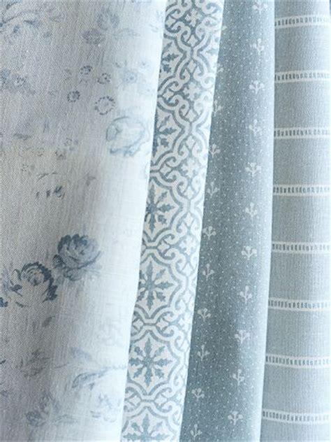 Blue And Ivory Curtains Lakshmi Bamburgh Blue On Ivory Linen Peony