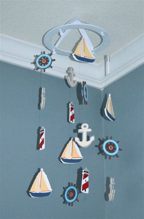 Sailboat Mobile For Crib by Nautical Sailboat Baby Nursery Mobile By