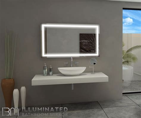 48 Bathroom Mirror Dimmable Lighted Mirror Harmony 48 X 28 Light Bathroom And Bathroom Mirrors