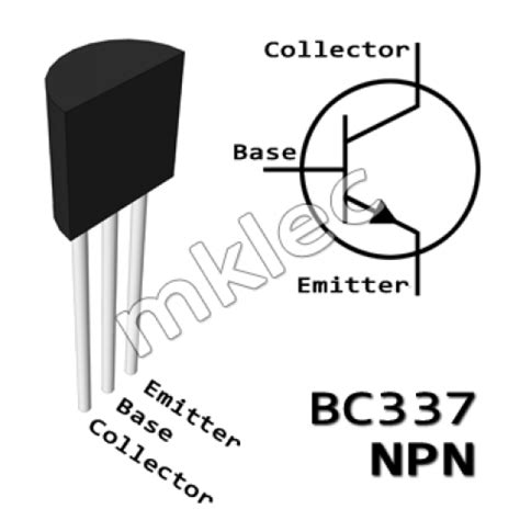 bc337 npn to 92 lifier transistor