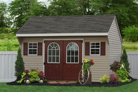 economy garden sheds wooden  vinyl siding amish built