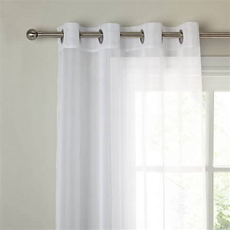 weighted voile curtains montanana plain white voile with lead weighted base made