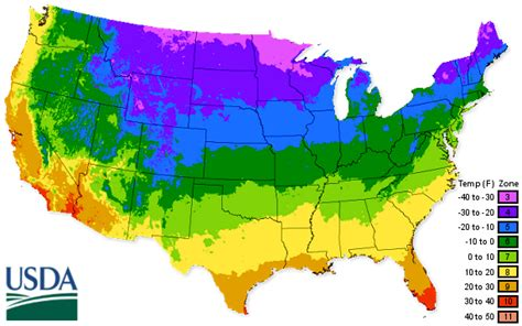 Landscape Zones Usa Usda Hardiness Zone Map 2016 Greener Earth Nursery