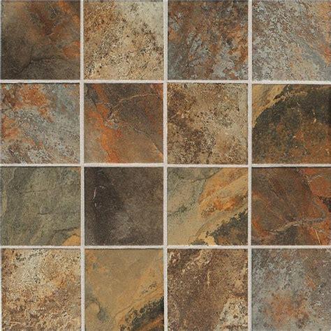 slate look ceramic tile shop american olean 12 pack kendal slate ambleside beige ceramic mosaic square floor tile