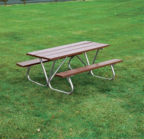 heavy duty bolt thru wooden picnic table wood picnic table