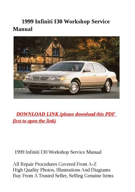 online service manuals 1999 infiniti i free book repair manuals 1999 infiniti i30 workshop service manual by zrbhtdryjun6 issuu
