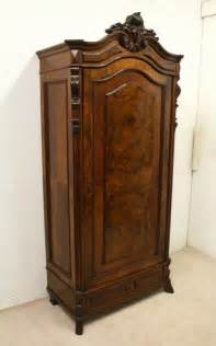 single armoire wardrobe continental walnut single door armoire wardrobe antiques