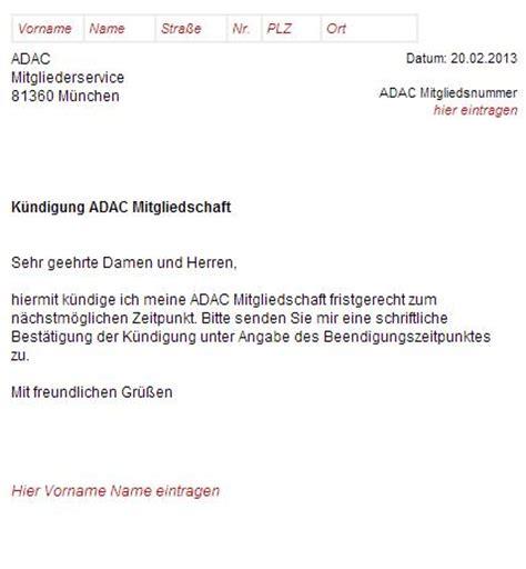 Vorlage Kündigung Lebensversicherung Ergo Adac K 252 Ndigungsscheiben Muster Schreiben Zum