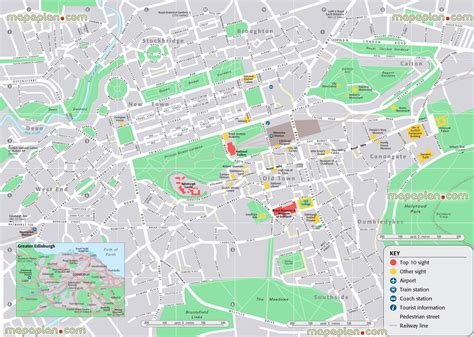 Printable Maps Edinburgh | maps update 21051488 tourist map of edinburgh