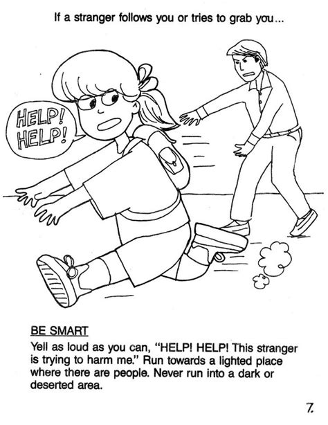 coloring pages for child safety 14 best danger images on safety