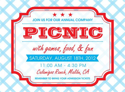 picnic invitation i designed party serie pick nick