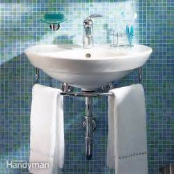 how to replace bathroom vanity and sink installing a bathroom sink wall hung sink the family
