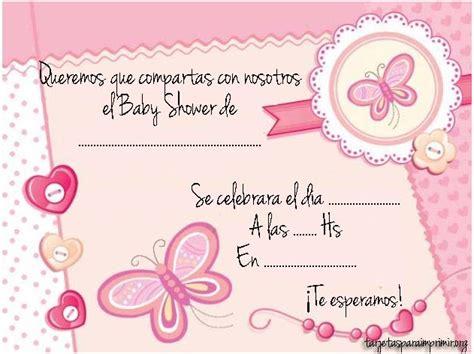 tarjetas de invitacion para baby shower listas para