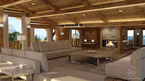 Chalet Style House by Perspective 3d Et D 233 Coration D Int 233 Rieur En Image De
