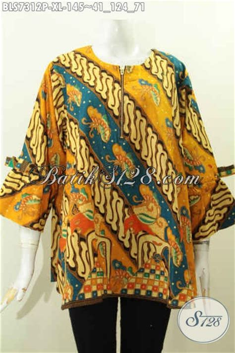 Blus Asimetris Batik koleksi baju batik wanita desain modern model blus