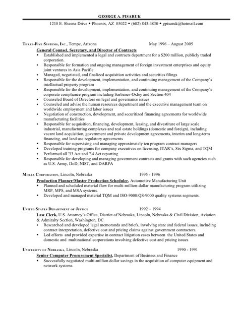 Resume M A Experience by Resume Additional Experience As Business
