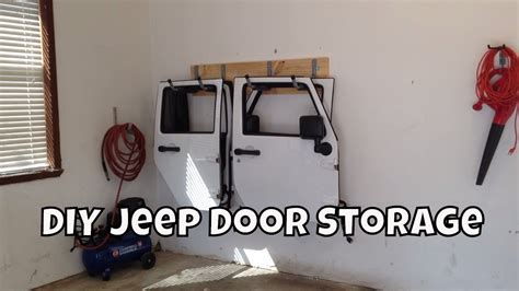 jeep wrangler 2 door storage the best diy jeep door storage