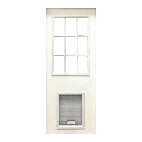 36 X 79 Exterior Fiberglass Door by Steves Sons 36 In X 80 In Premium Half Lite Primed