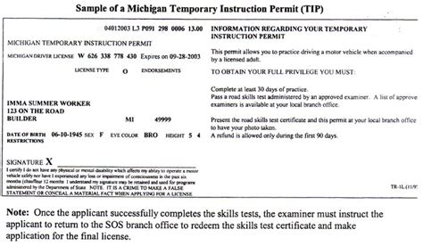 temporary drivers license template multi car insurance michigan temporary car insurance