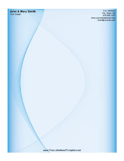 business letterhead with blue waves blue wave letterhead