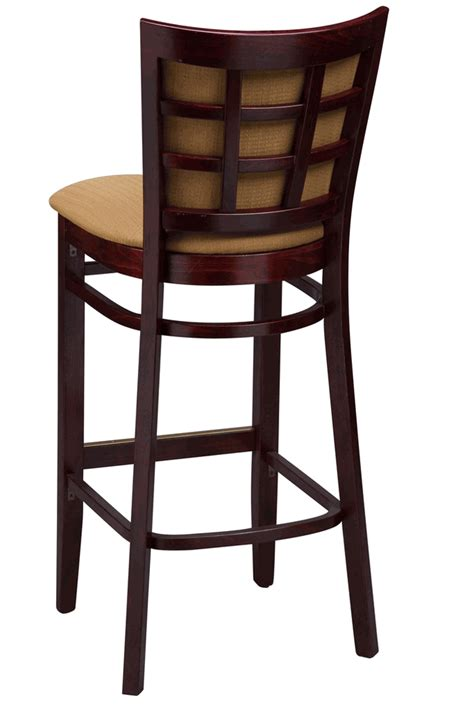 commercial bar stools with backs regal seating series 2411 window pane commercial bar stool