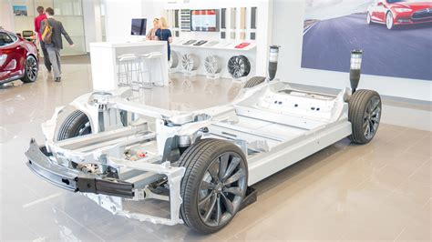Tesla Chassis The Tesla Model S Skateboard Rolling Chassis Is A Thing