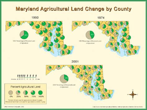 maryland agriculture map maryland agricultural land change