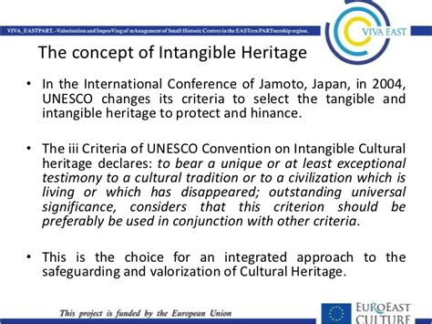 what is intangible cultural heritage intangible eu best practices on intangible heritage and local development
