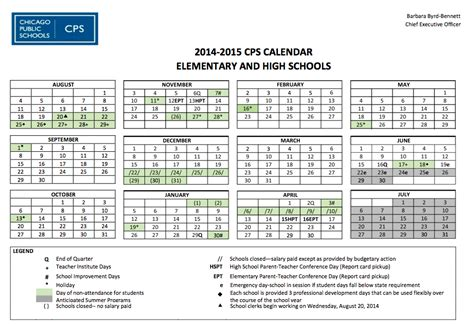 Chicago Parent Calendar School Calendar Lasalle Ii Magnet School