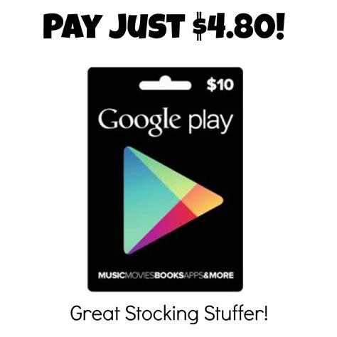 Google Play Gift Card Coupon - 10 google play gift card just 4 80