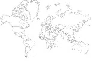 World Map Hd Outline by Efidlimar World Map Outline With Country Names
