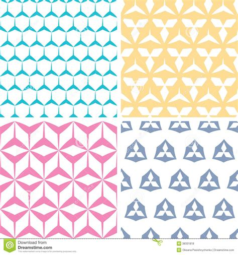 vector pattern matching four abstract geraldic geometric pink seamless royalty