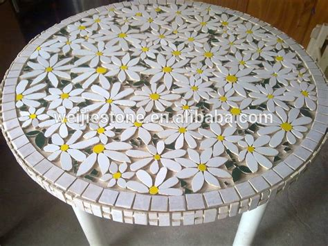 pattern for mosaic table round marble mosaic flower pattern table top mosaic garden