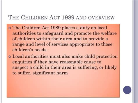 the children act ppt unit 10 caring for children and young people powerpoint presentation id 6093916