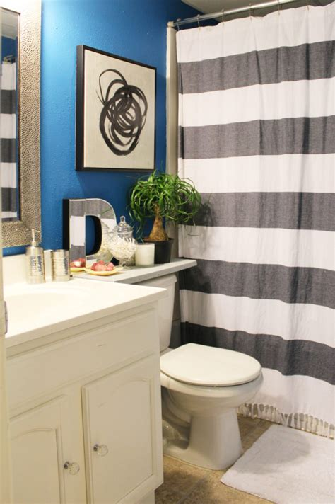 small blue bathroom ideas my apartment small blue bathroom reveal whitney j decor