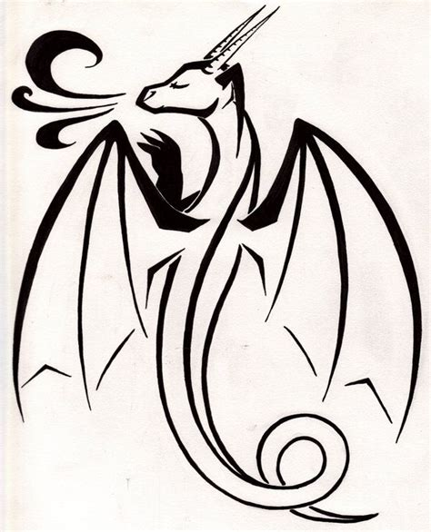 simple tattoo design outlines simple dragon tattoo by tsukitsu on deviantart tattoos