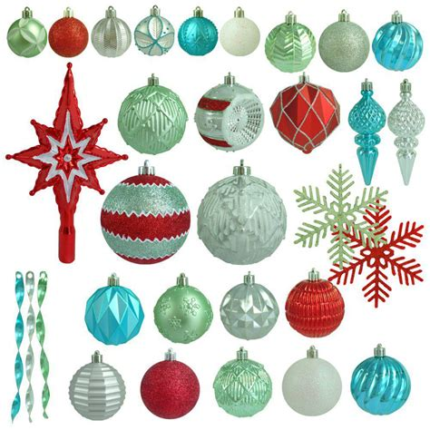 martha stewart white christmas ornaments martha stewart living morning shatter resistant ornament 100 count h369 the home depot