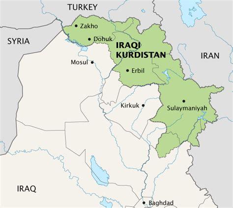 map of iraqi kurdistan iraq kurdistan