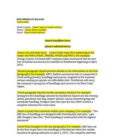 press release brief template best 25 press release ideas on