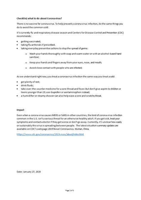 Corona Virus Checklist Covid-19   Templates at