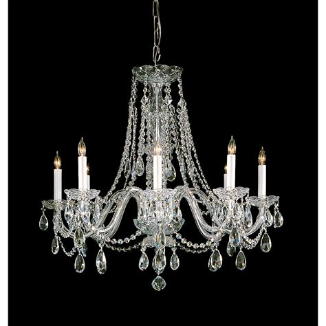 Lighting Chandeliers Traditional Crystorama Lighting Traditional Polished Brass Eight Light Swarovski Spectra