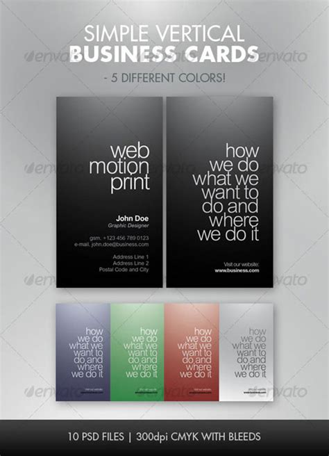 Photoshop Vertical Business Card Template by 50 High Quality Psd Business Card Designs Web Graphic