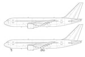 Creating A Blueprint boeing 767 200 blank illustration templates norebbo