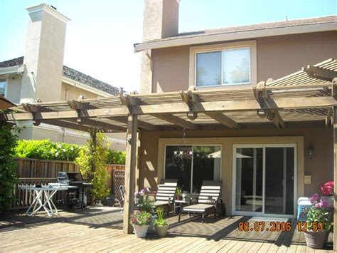 redwood patio cover coastal lumber custom patio covers image gallery