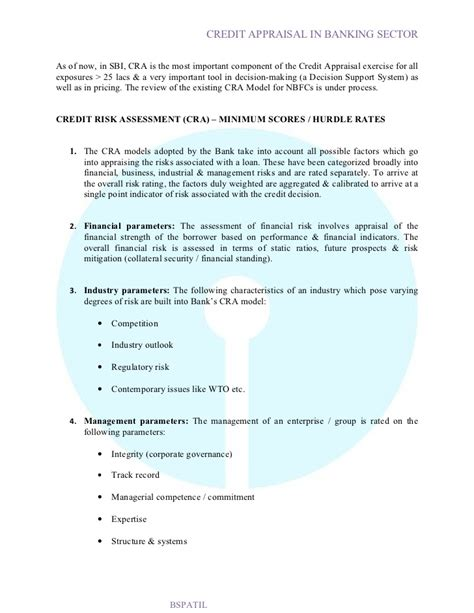 Sbi Letter Of Credit Credit Appraisal In Sbi Bank Project6 Report