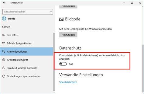 e mail eingang windows 10 email bei anmeldung einblenden ausblenden