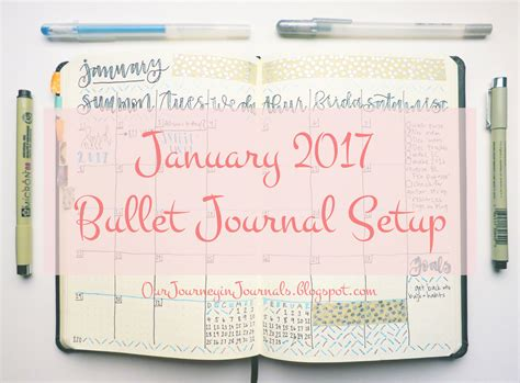 bullet journal setup our journey in journals january 2017 bullet journal setup