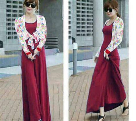 Longdress Murah Jersey setelan bolero baju dress cantik model terbaru